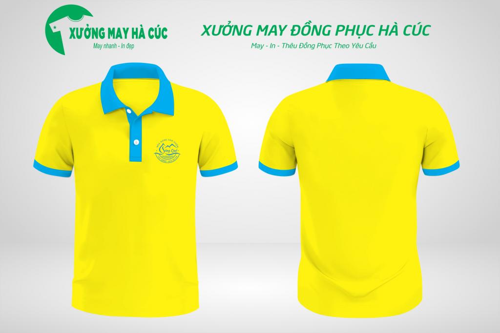 Mẫu áo đồng phục nhà hàng màu vàng